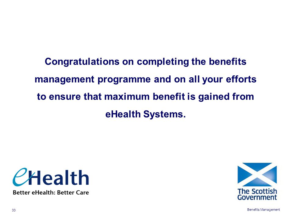 to ensure that maximum benefit is gained from eHealth Systems.