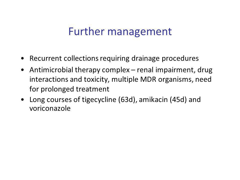 Further management Recurrent collections requiring drainage procedures