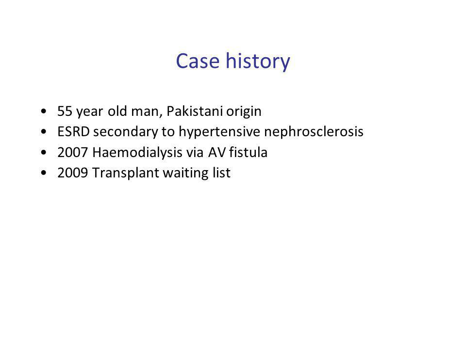 Case history 55 year old man, Pakistani origin