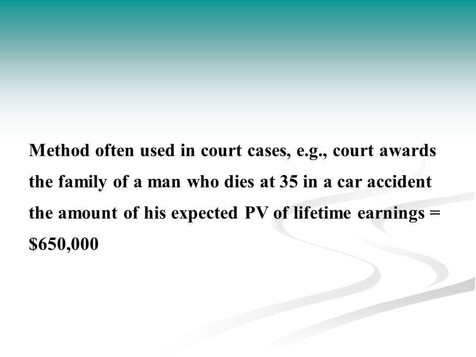 Method often used in court cases, e. g