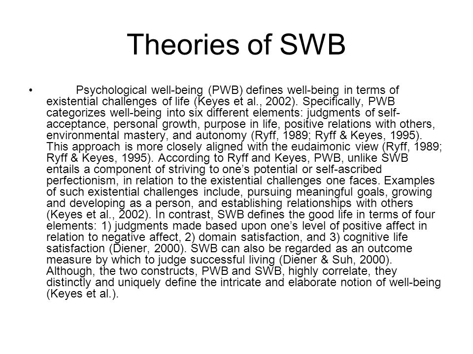 Theories of SWB