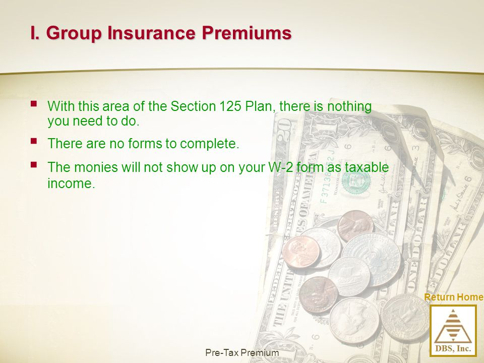 I. Group Insurance Premiums