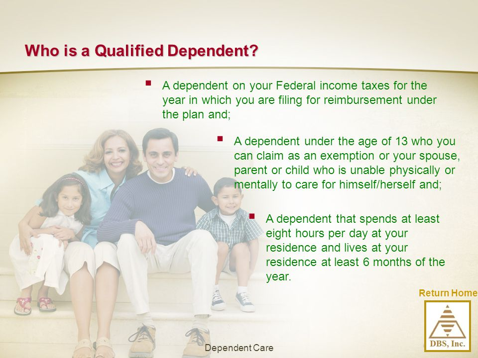 Who is a Qualified Dependent
