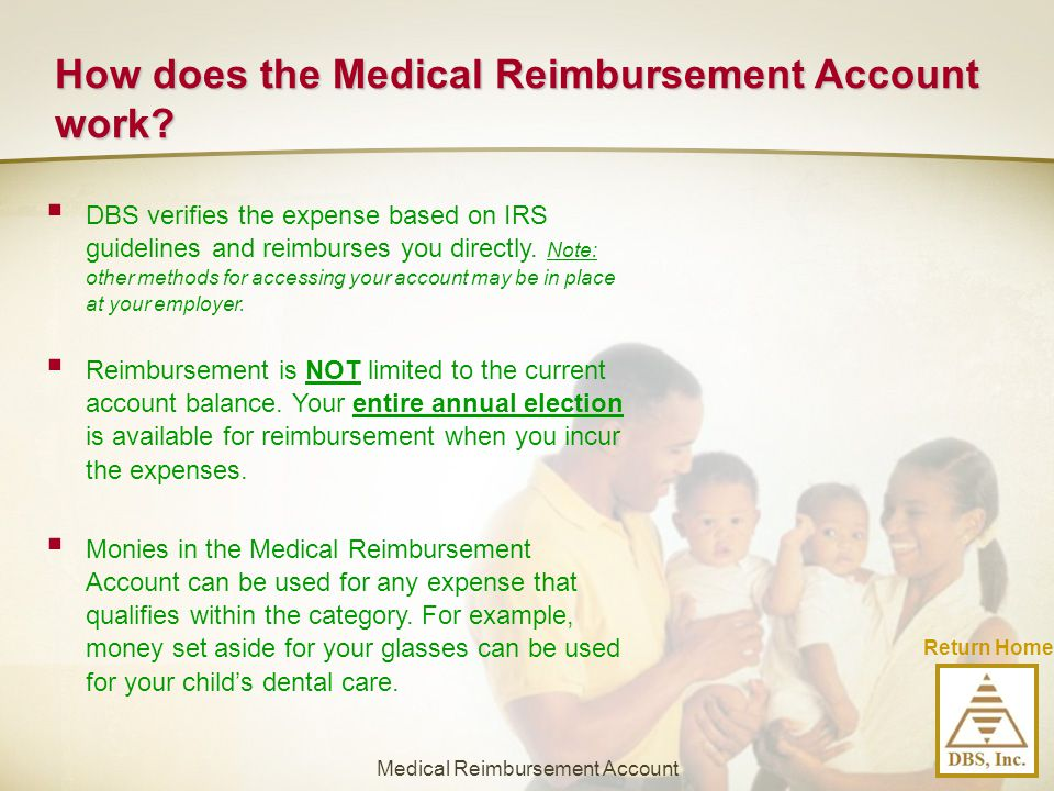 How does the Medical Reimbursement Account work