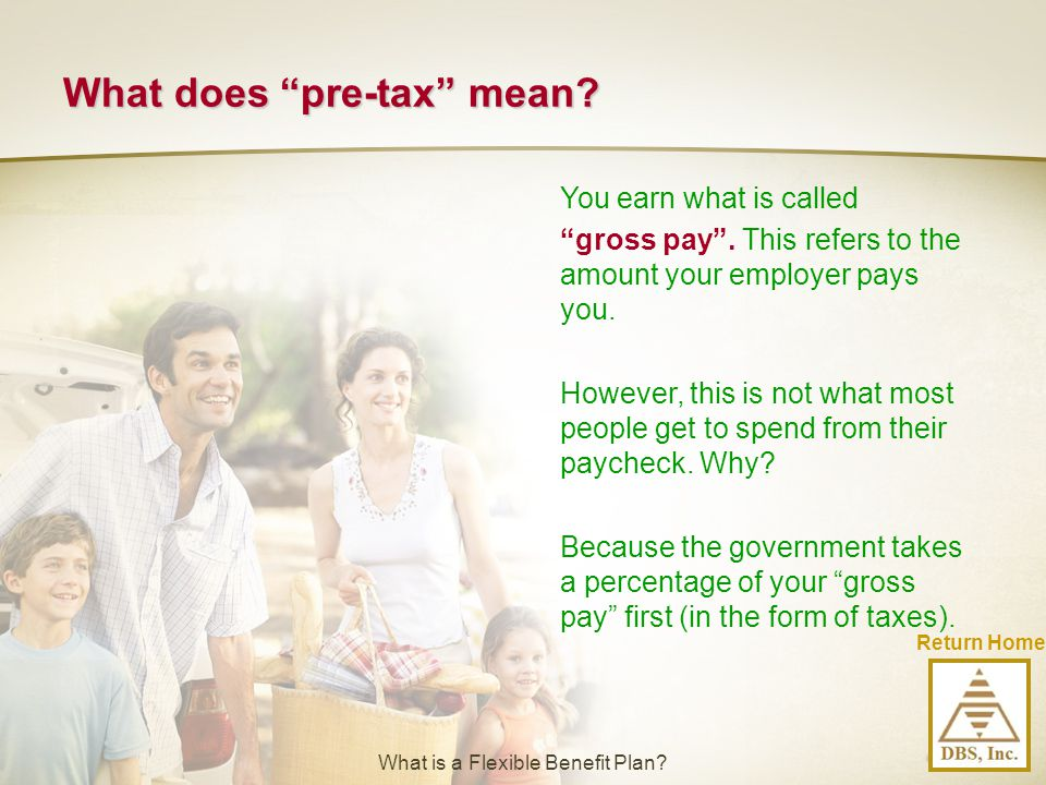What does pre-tax mean