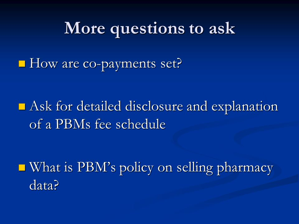 More questions to ask How are co-payments set