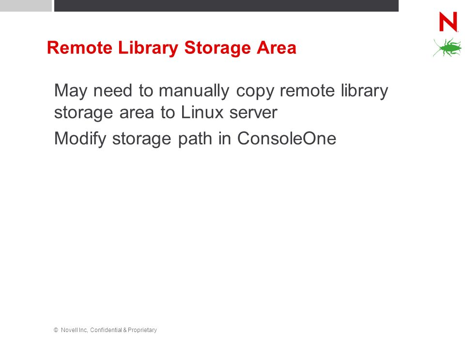 Remote Library Storage Area