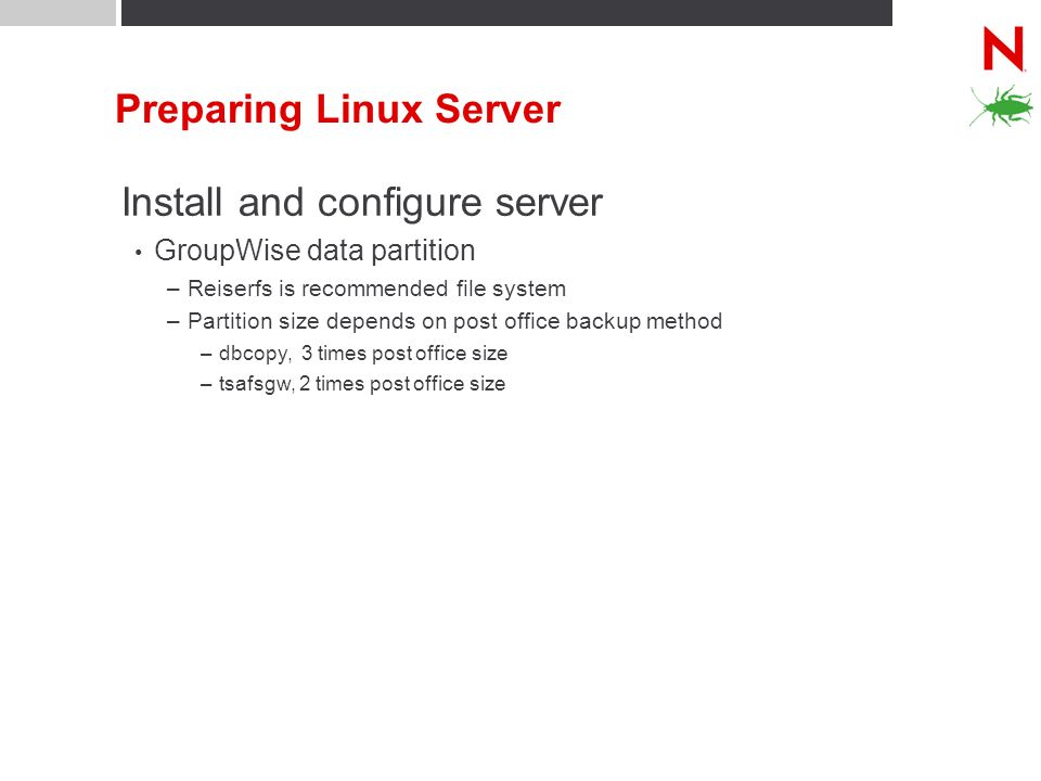 Preparing Linux Server
