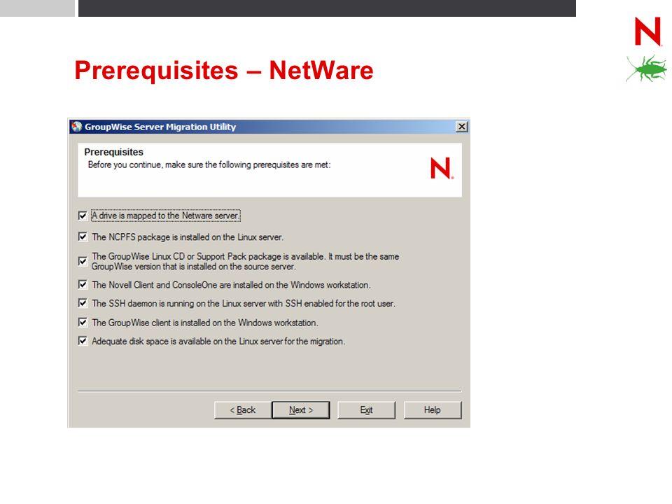 Prerequisites – NetWare