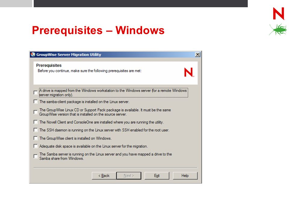 Prerequisites – Windows