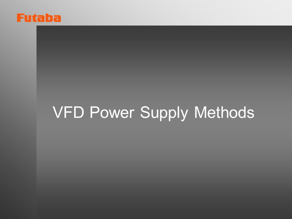 VFD Power Supply Methods