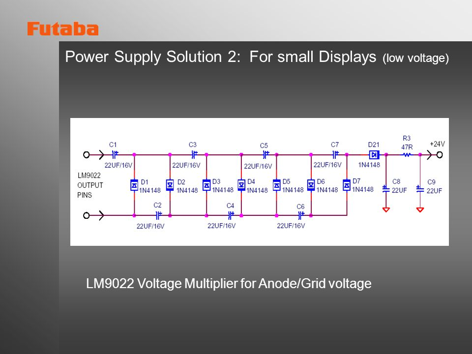 Power Supply Solution 2: For small Displays (low voltage)