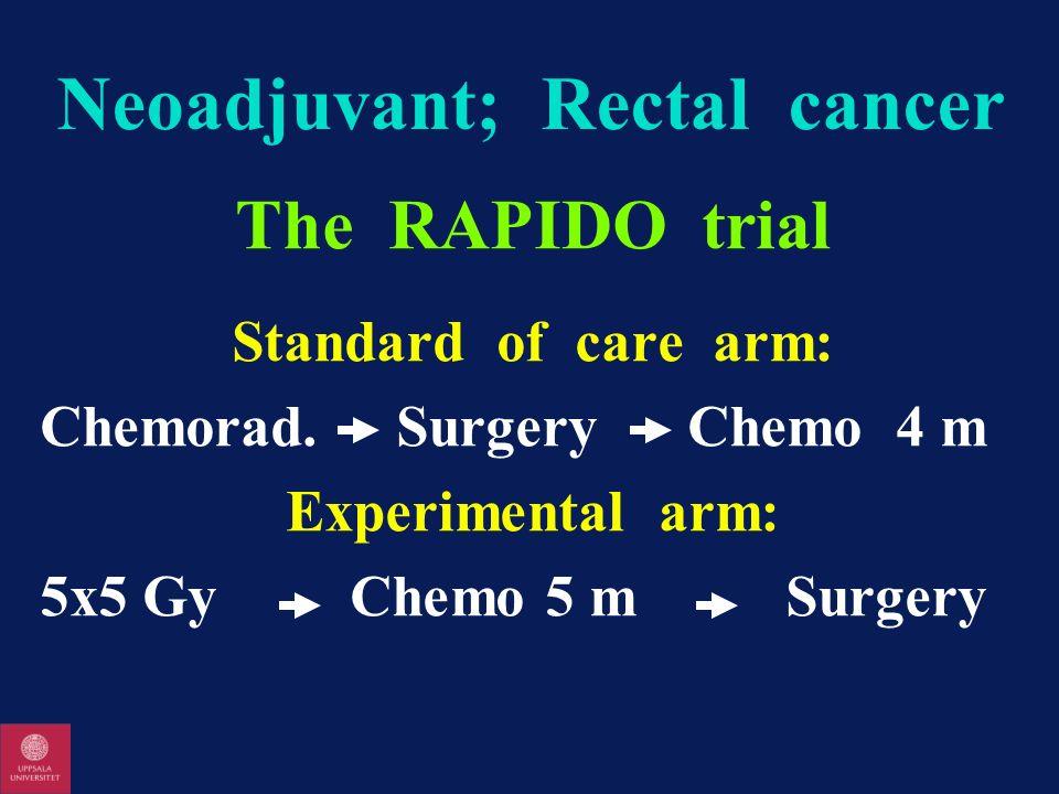 Neoadjuvant; Rectal cancer