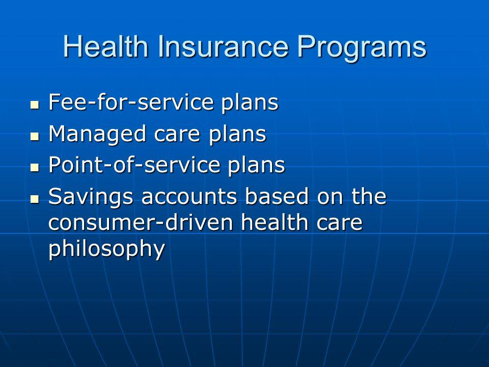 Health Insurance Programs