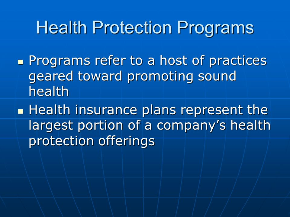 Health Protection Programs