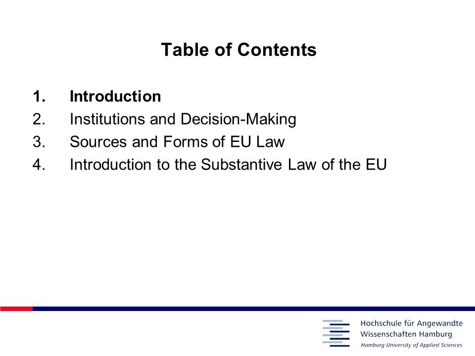 Table of Contents Introduction Institutions and Decision-Making