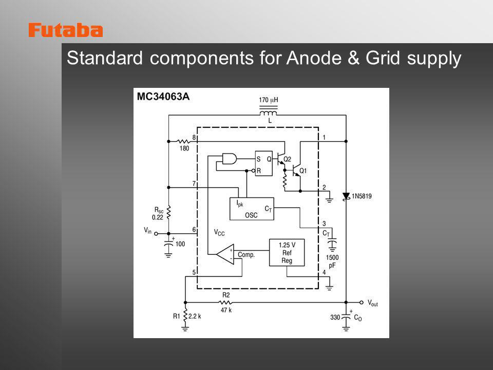 Standard components for Anode & Grid supply