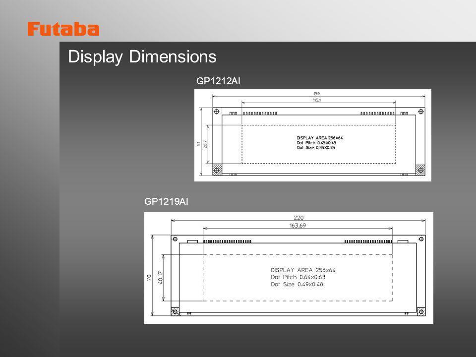 Display Dimensions GP1212AI GP1219AI