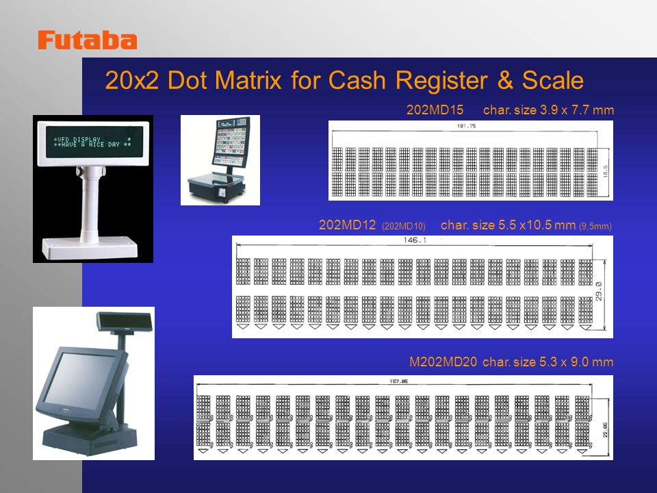 20x2 Dot Matrix for Cash Register & Scale