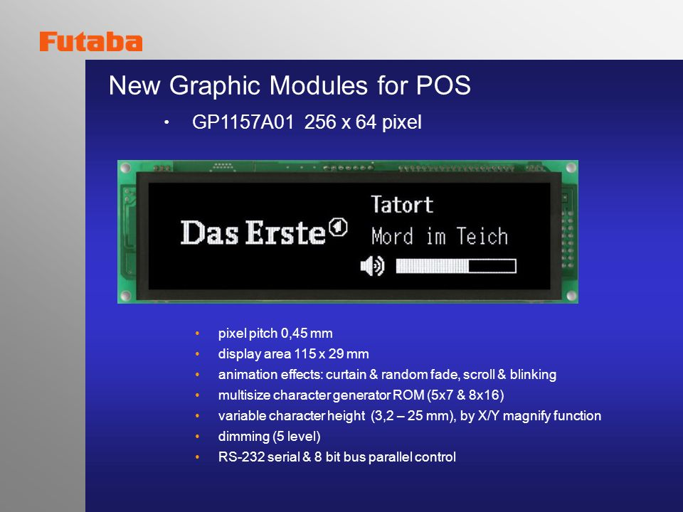 New Graphic Modules for POS