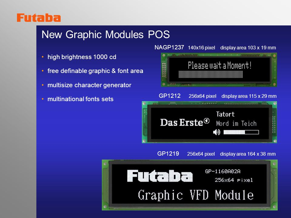 New Graphic Modules POS