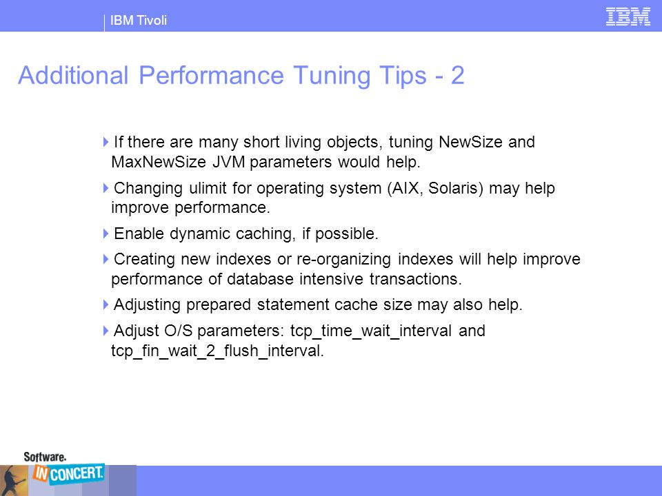 Additional Performance Tuning Tips - 2