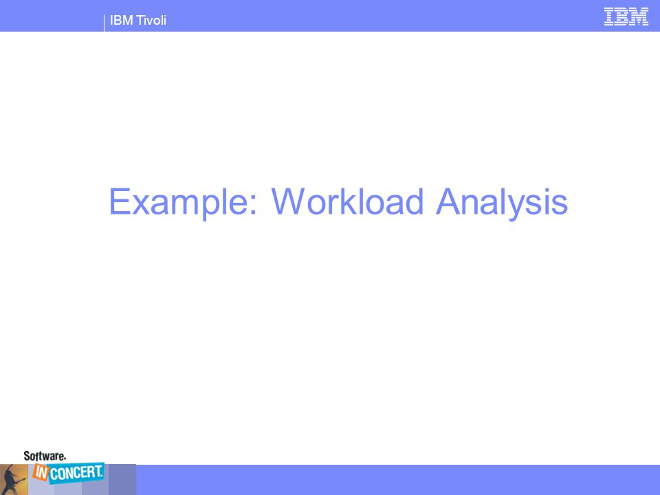 Example: Workload Analysis