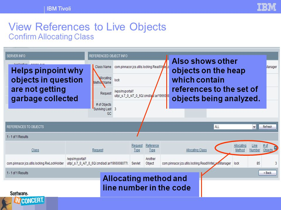 View References to Live Objects Confirm Allocating Class