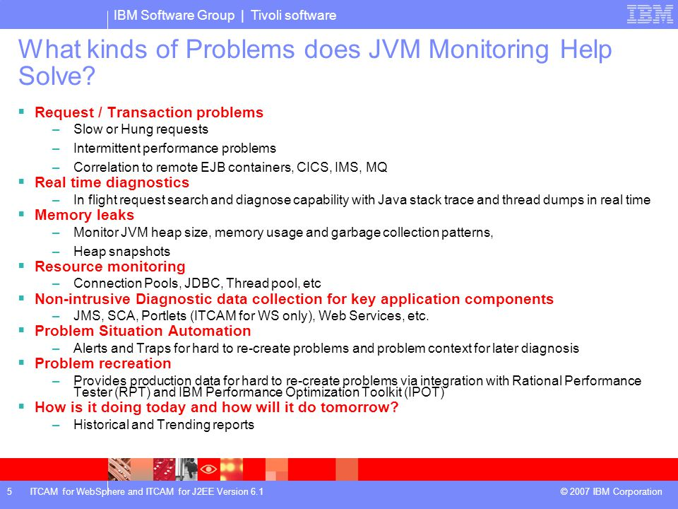 What kinds of Problems does JVM Monitoring Help Solve