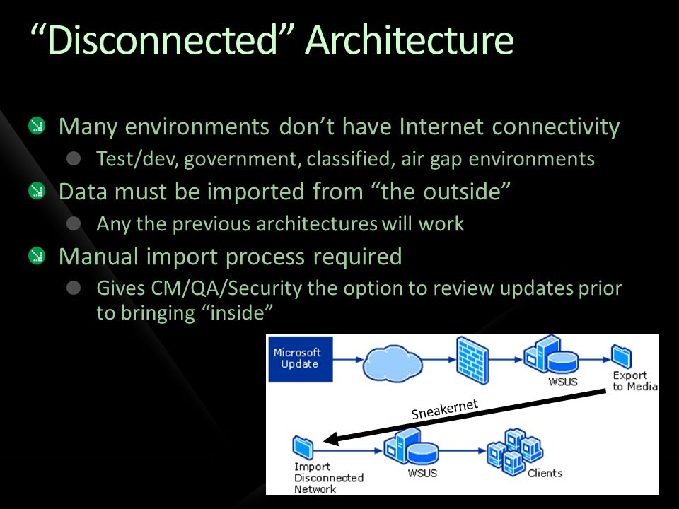 Disconnected Architecture