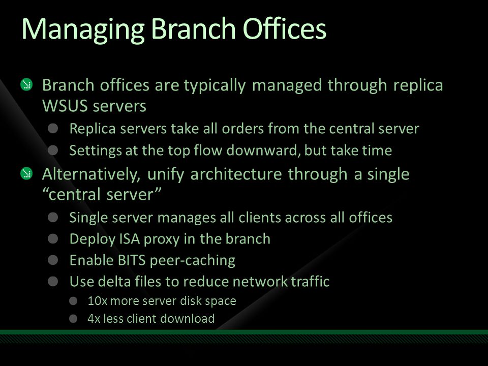 Managing Branch Offices