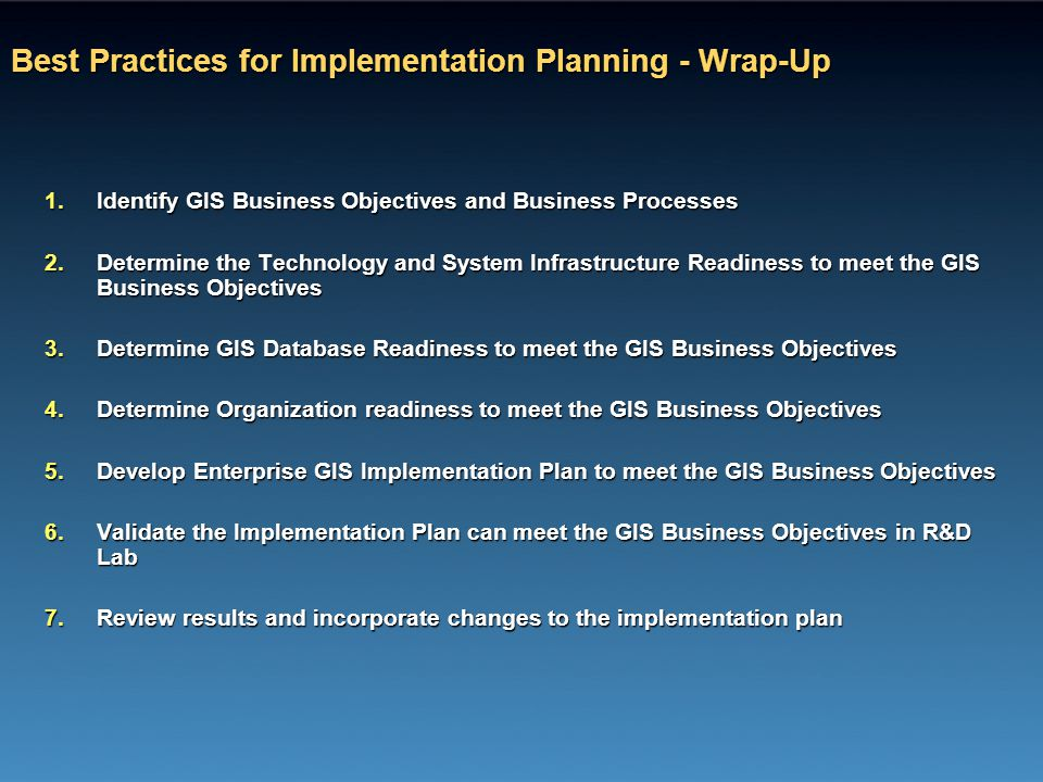 Best Practices for Implementation Planning - Wrap-Up