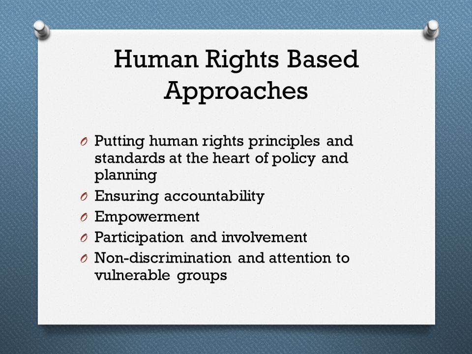 Human Rights Based Approaches