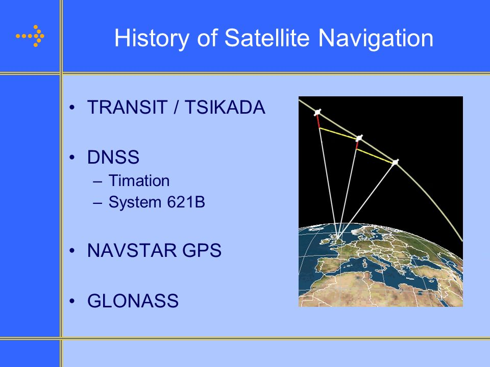 History of Satellite Navigation