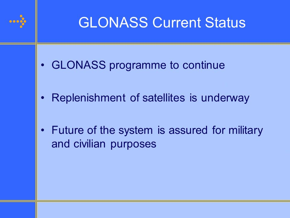 GLONASS Current Status