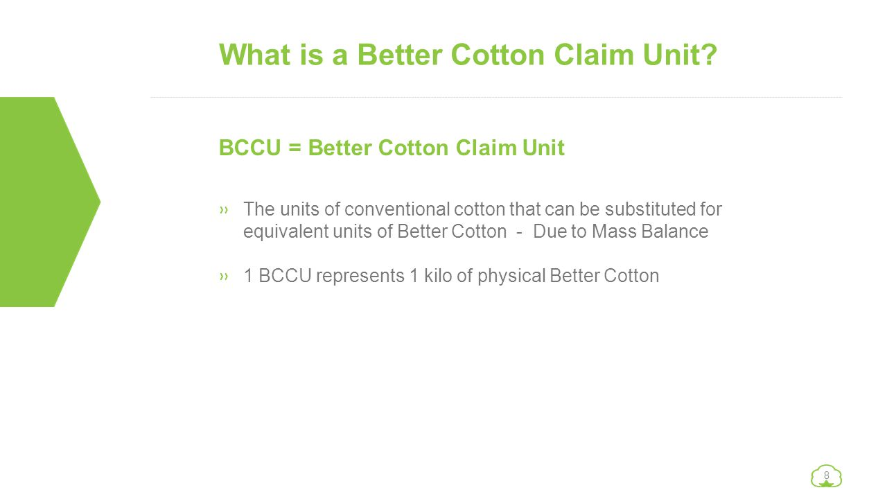 What is a Better Cotton Claim Unit