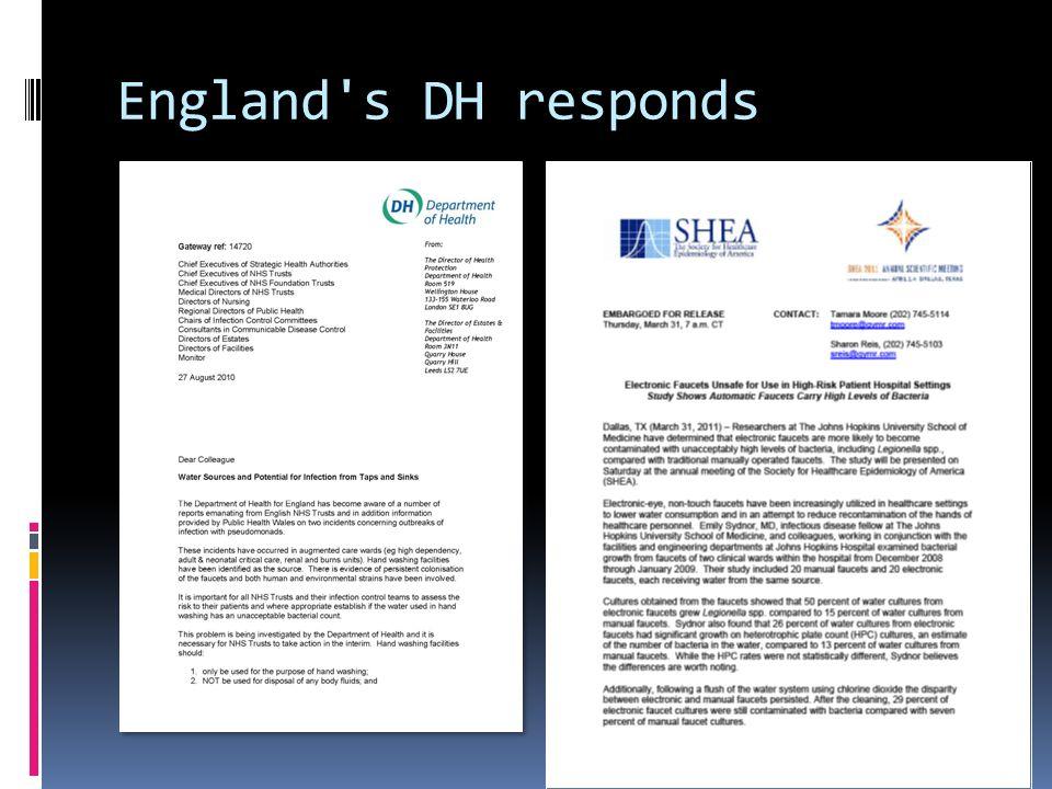 England s DH responds