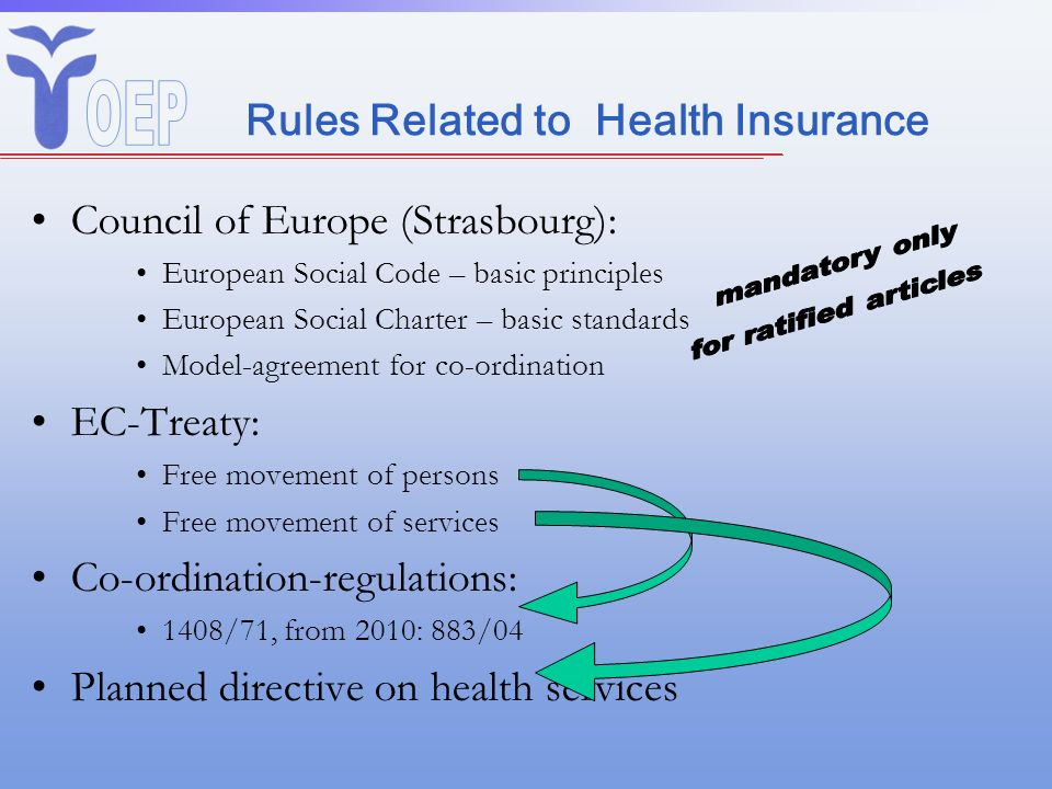 Rules Related to Health Insurance
