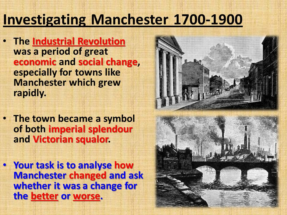 Investigating Manchester 1700-1900