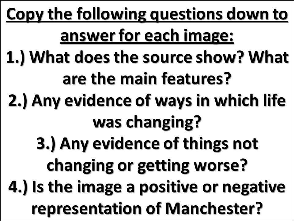 Analysing Images of Manchester