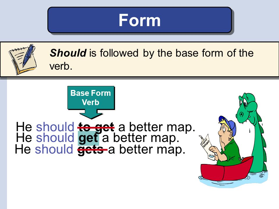 Form He should to get a better map. He should get a better map.
