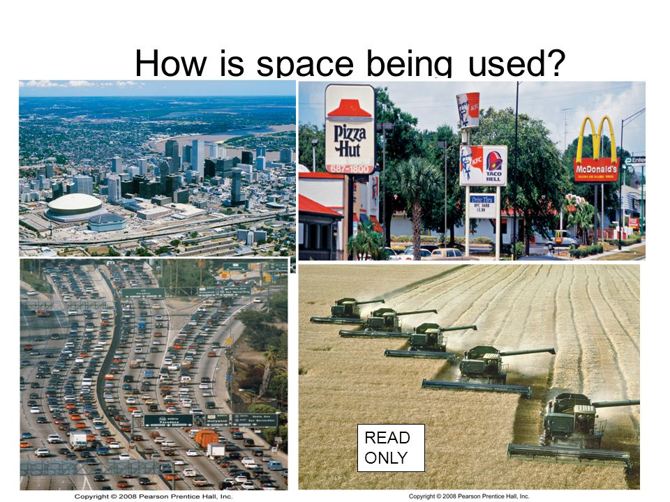 How is space being used READ ONLY
