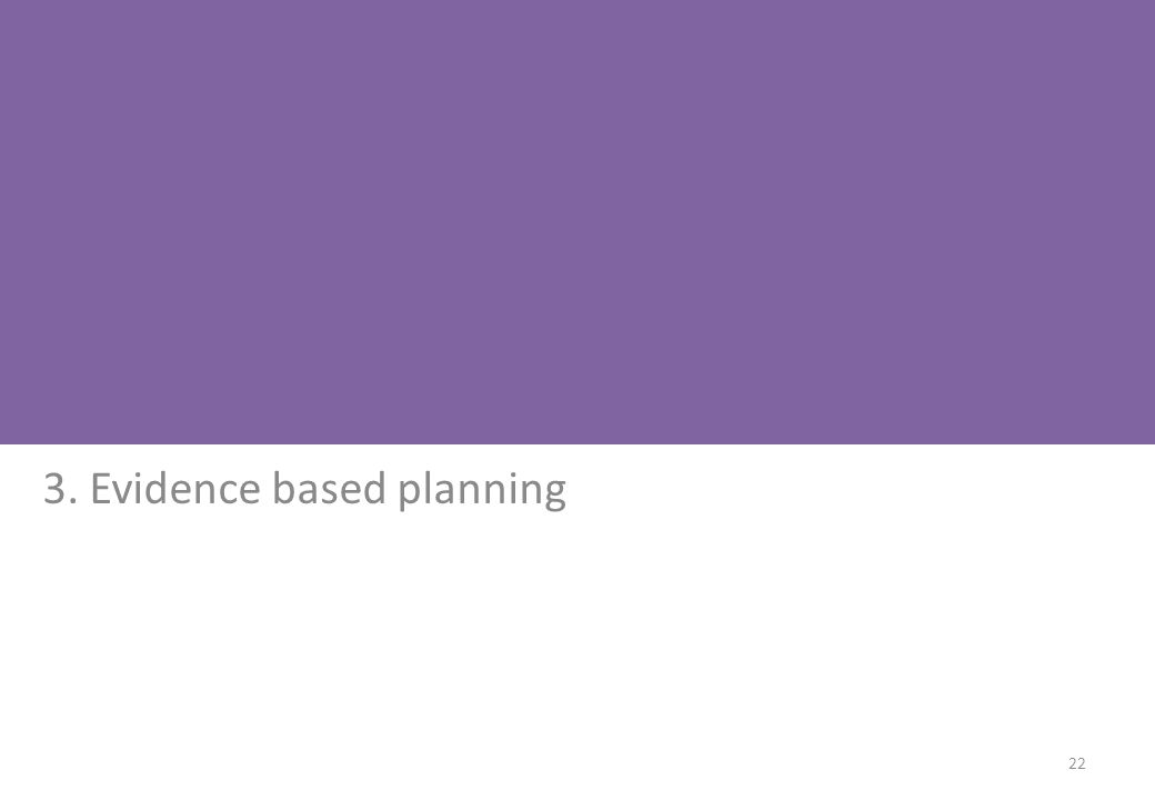 3. Evidence based planning