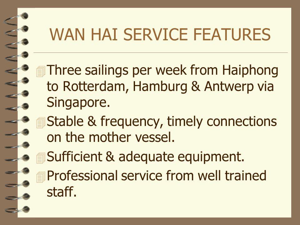 WAN HAI SERVICE FEATURES