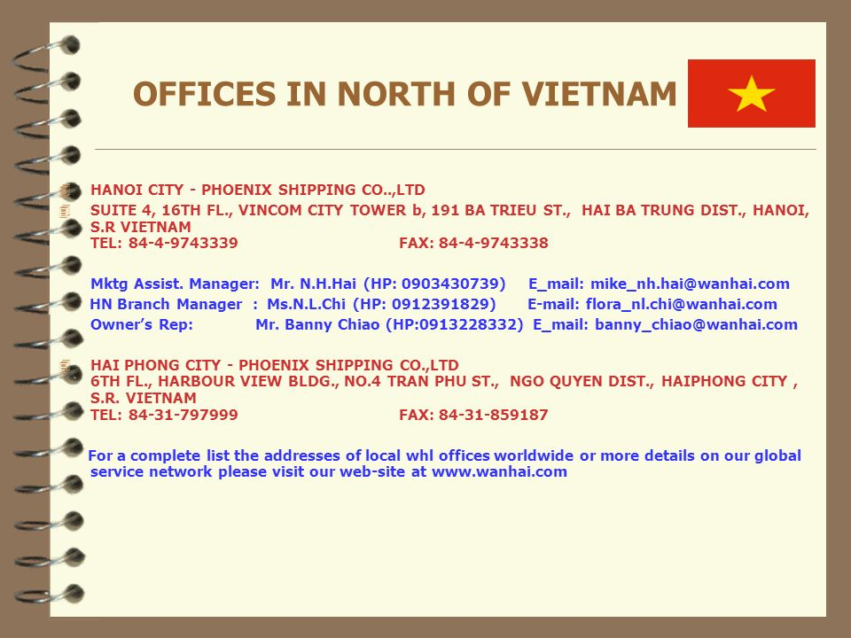 OFFICES IN NORTH OF VIETNAM