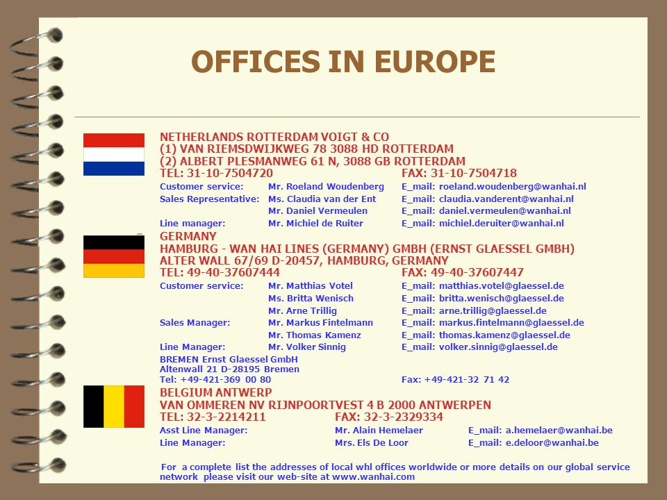OFFICES IN EUROPE