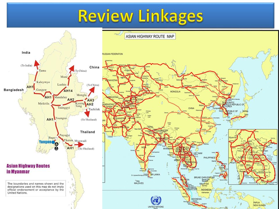 Review LinkagesTaking this opportunity, Allow me to present, Myanmar in ASEAN infrastructure development aspect.