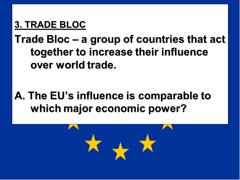 A. The EU's influence is comparable to which major economic power