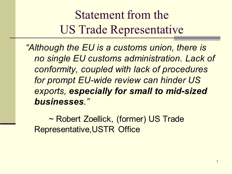 Statement from the US Trade Representative