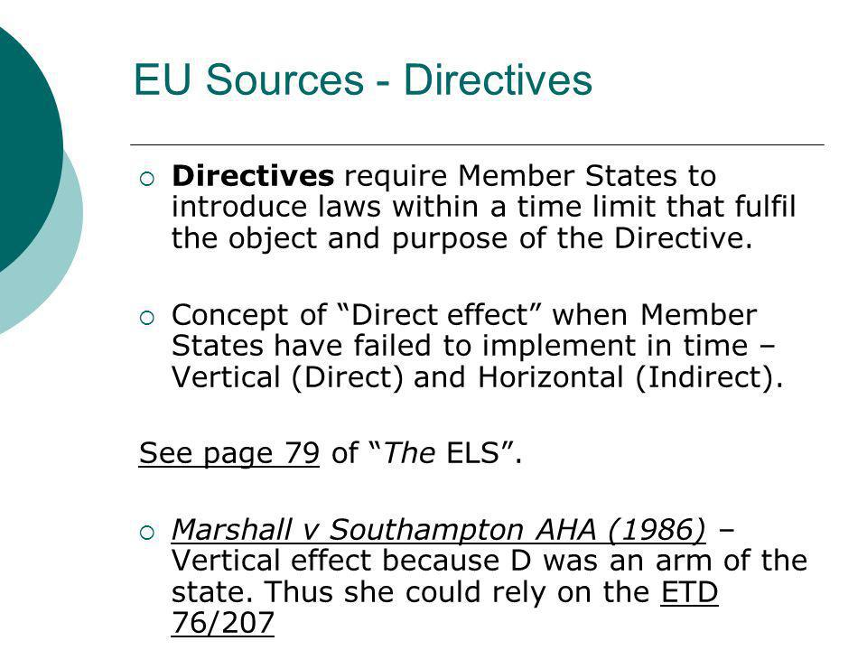 EU Sources - Directives